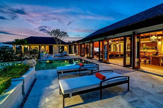 Outdoor living after sunset